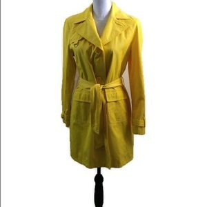 Style & Co.  Size Small Yellow Rain/Trench Coat